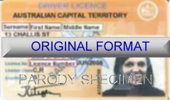 AUSTRALIAN CAPITAL Fake Proof Of Age Card