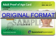 Queensland Proof Of Age Card Fake ID