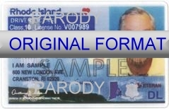 Rhode Island Fake ID Template Small