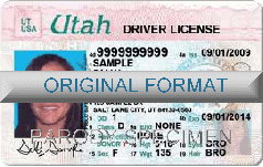 Utah Fake ID Template Large
