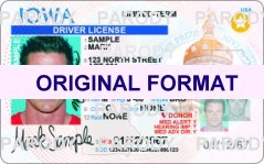 IOWA  DRIVER LICENSE IOWA FAKE ID CARD SCANNABLE IOWA FAKE ID
