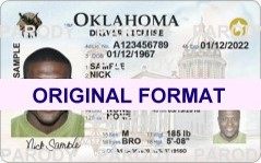 OKLAHOMA FAKE IDS SCANNABLE FAKE OKLAHOMA ID WITH HOLOGRAMS