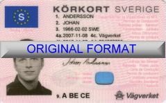 SVERIGE DRIVER LICENSE ORIGINAL FORMAT, DESIGN SPECIFICATIONS, NOVELTY SECURITY CARD PROFILES, IDENTITY, NEW SOFTWARE ID SOFTWARE